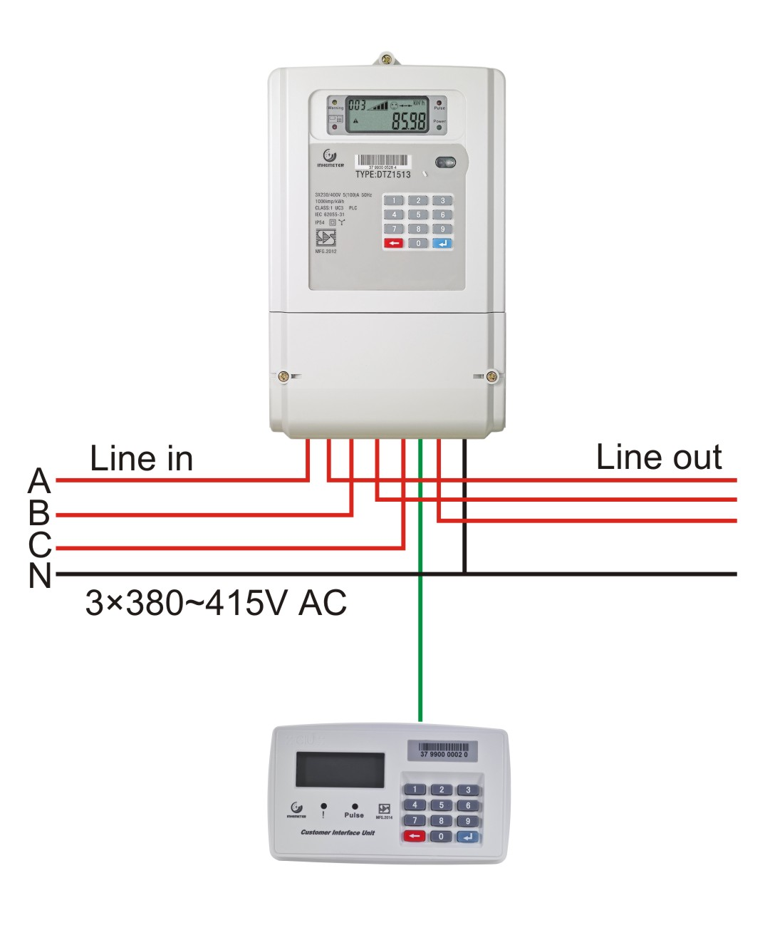 Communication Cable In Electric Meters : Ddz single phase smart meter class global